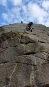 Brian's 1st ascent of Dental Slab